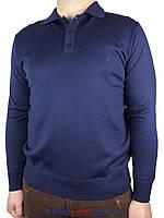 Мужской свитер DLN с воротником в синем цвете 2301 Н