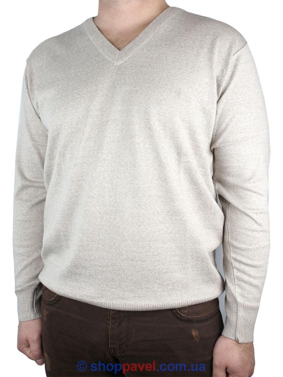 Классический мужской свитер DLN в бежевом цвете 2305 Н