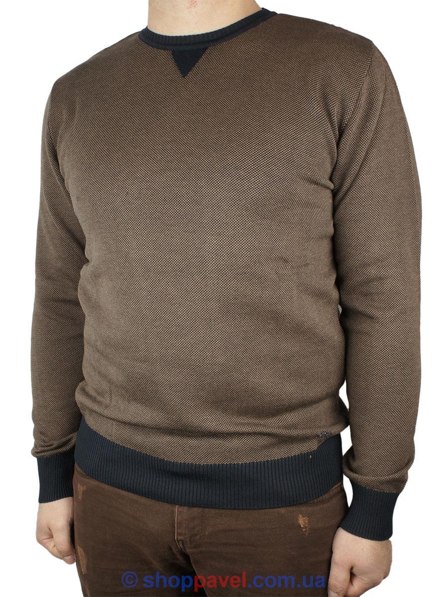 Молодежный мужской свитер NCS 15ORE3889 в коричневом цвете