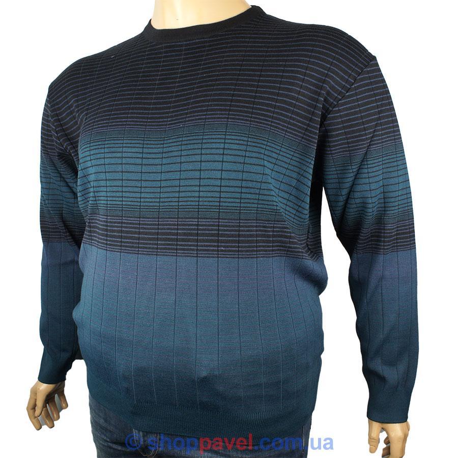 7ba1c5df6fbad Мужской стильный свитер Besle большой размер 21713 В для настоящих ...