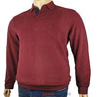 Бордовый мужской свитер Better Life большой размер 501 В