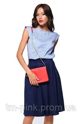 """Блуза планка блакитного кольору """"Еко"""""""