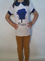 Блуза шелковая для девочки р.134,140,146 Украина