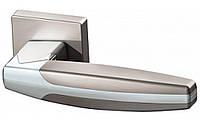 Ручка дверная на розетке Armadillo Arc матовый никель (Китай)