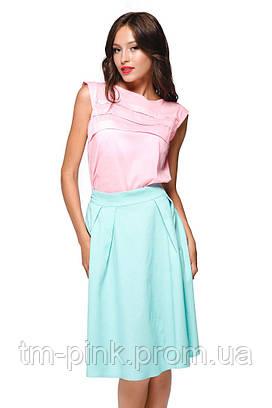 """Блуза горизонтальні складки """"Еко"""" рожева"""