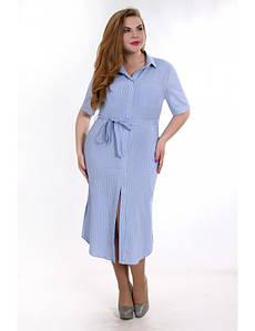 Вечернее платье-рубашка большого размера с разрезами по бокам