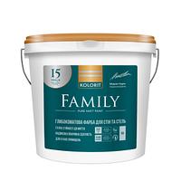 Гиппоалергенная матовая краска Kolorit Famyli (Interior Premium 3) - для стен и потолка