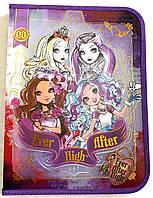 Папка для труда «Ever After High» (Школа Долго и Счастливо), пластиковая, на молнии