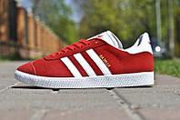 Кроссовки мужские Adidas Gazelle II (Натур Замш) красные