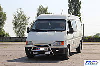 Защита переднего бампера (кенгурятник)  Renault Trafic (01-14)