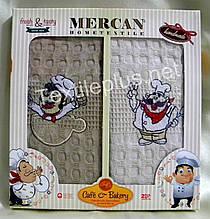 Полотенца вафельные кухонные - Mercan - Bakery - 2 шт. 50*70 100% хлопок - Турция -