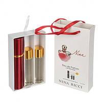 Подарочный парфюмерный набор с феромонами Nina Ricci Nina (Нина Риччи Нина) 3х15 мл
