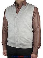 Серый мужской жилет Ferraro 7818-Y на пуговицах