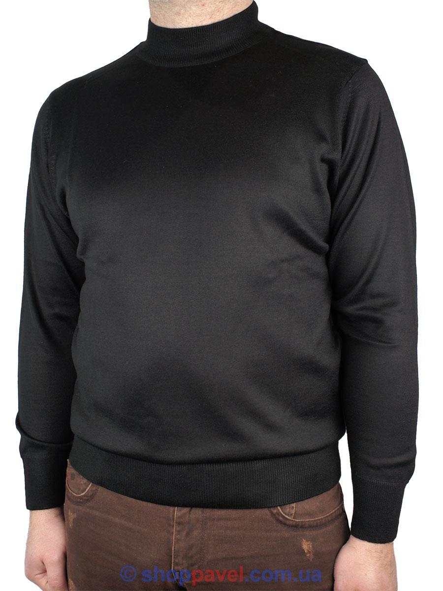Черная мужская водолазка Wool 0250