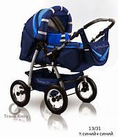 Универсальная коляска Trans baby Таурус т.синий+голубой