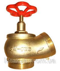 Вентиль (кран) пожарный угловой Ду-65 (бронза)