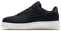 Мужские кроссовки NikeLab Air Force 1 Low Black (Найк Аир Форс низкие) черные