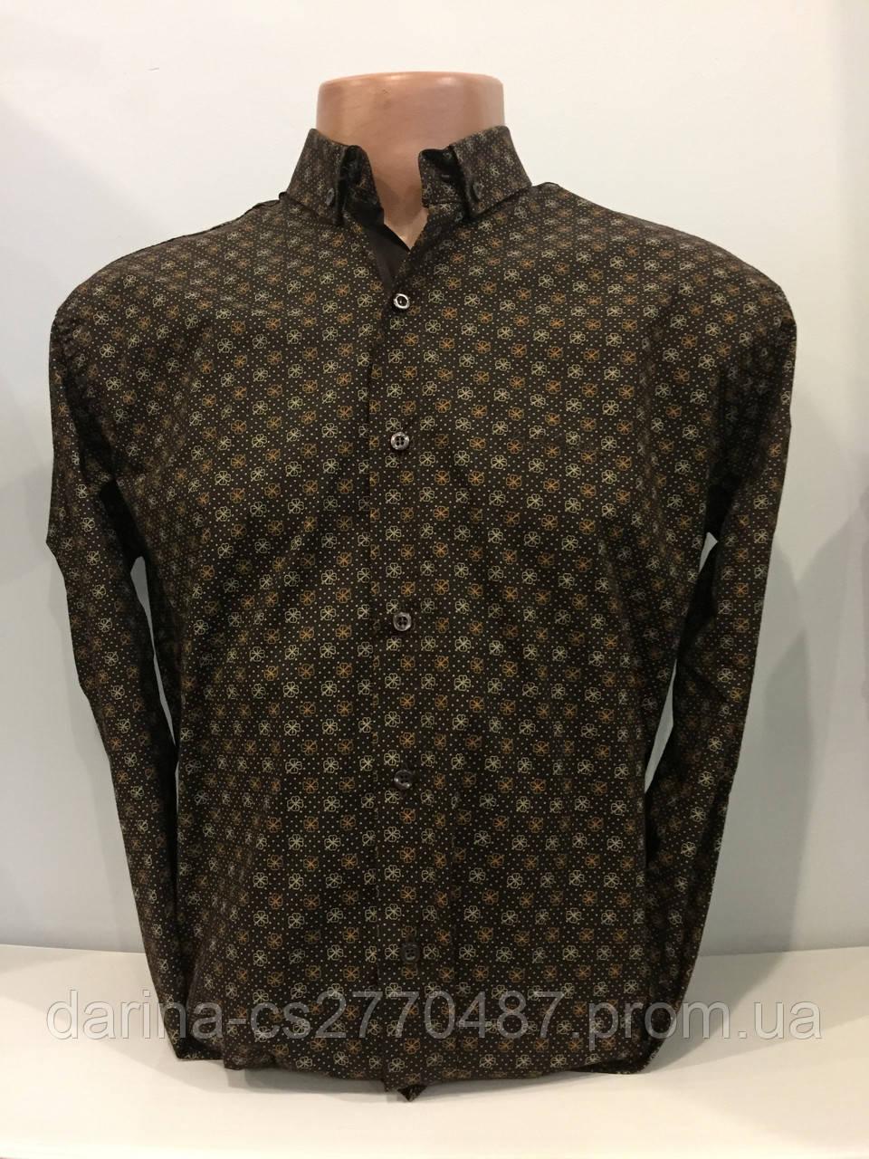 Рубашка мужская с длинным рукавом M