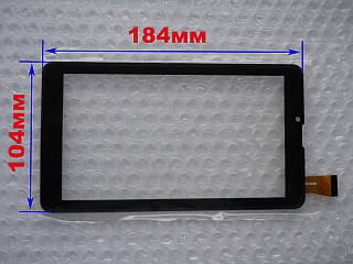 Touch screen (Сенсор) Prestigio MultiPad PMT3037 3G/ PMT3038 3G (184*104) Чёрный (TEST OK)