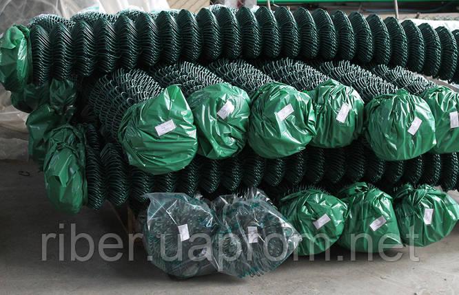 Сетка рабица в ПВХ 1м 35*35 2.5 мм, фото 2