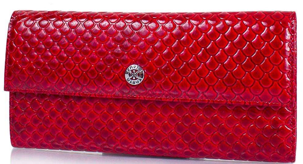 Компактный женский кожаный кошелек KARYA SHI1142-122 красный