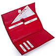Компактный женский кожаный кошелек KARYA SHI1142-122 красный, фото 6