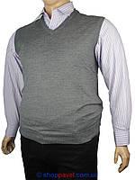 Серый мужской жилет Wool Yurt 0250 B большого размера