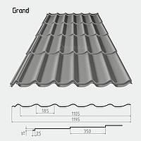 Металлочерепица Grand мат 0,5 мм PEMA Польша/Италия