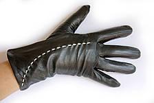 Женские кожаные перчатки ВЯЗКА Средние W22-160111s2, фото 3