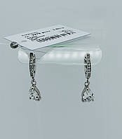 Серьги подвесные с камнями серебро 925*