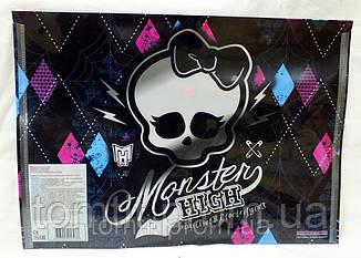 """Папка пластиковая """"Monster High"""", (на кнопке, формат А-4), фото 2"""
