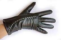 Женские кожаные перчатки Кролик W22-160112, фото 2
