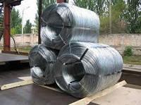 Проволока оцинкованная 5 мм стальная термически необработанная