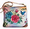 """Жіноча шкіряна сумочка """"Rossa"""", з оригінальним розписом ручної роботи"""