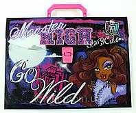 """Портфель-коробка пластиковый """"Monster High (Школа монстров)"""", на защелке, формат А4"""