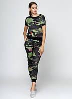4224 Спортивный костюм женский хаки: imprezz.com.ua