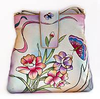 Симпатична жіноча сумочка з натуральної шкіри ручної роботи, фото 1
