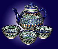 Чайный набор. Керамика ручной работы. Узбекистан.