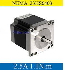 Шаговый двигатель 23HS6403  2.5A 1.1N.m, фото 2