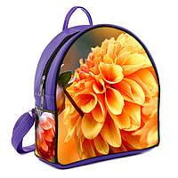 Фиолетовый городской рюкзак с рисунком Цветок