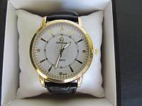 Мужские наручные часы Omega (Омега) золото с белым циферблатом