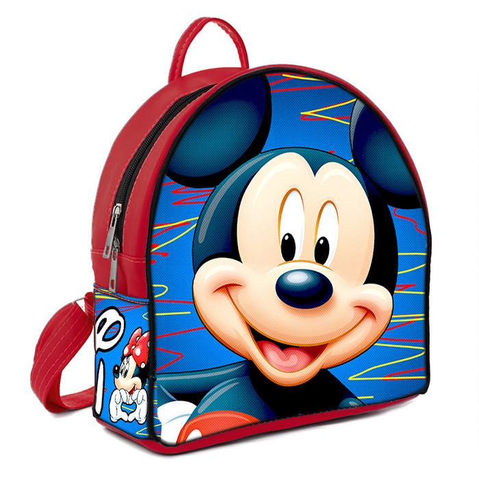 Красный городской рюкзак с принтом Мики маус