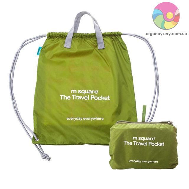 Портативна водонепроникна сумка-рюкзак (салатовий)