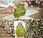Портативна водонепроникна сумка-рюкзак (салатовий), фото 3