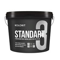 Матовая латексная краска Kolorit Standart 3 - для стен и потолка