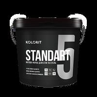 Матовая моющаяся краска Kolorit Standart 5 - для стен и потолка