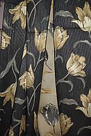 Штора  Тюльпан  на черном гобелен ( остаток 2м в)