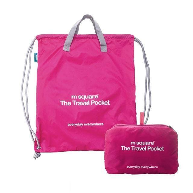 Портативная водонепроницаемая сумка-рюкзак розовая