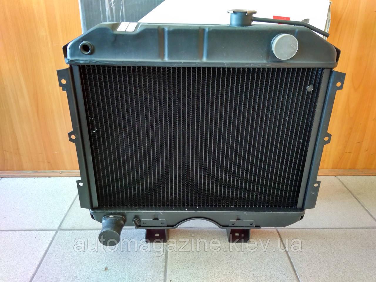 Радиатор охлаждения медный УАЗ (3-х рядный)