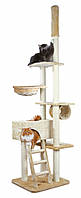Когтеточка Trixie Zaragoza Scratching Post для кошек, от пола до потолка, 68 х 56 х 220-260 см